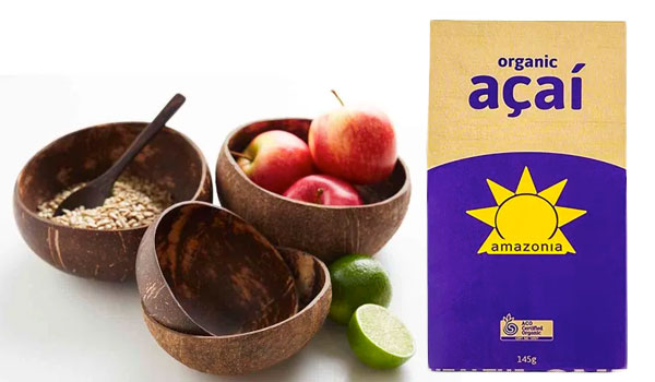 Coconut bowls and Acai mix