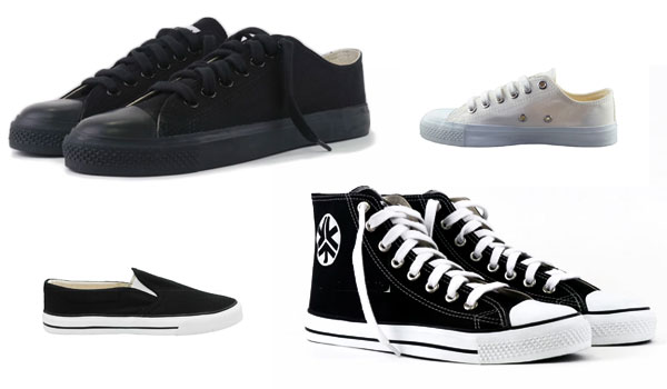 High tops, low cut and slip on shoes for men