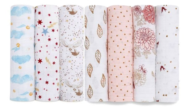 Harry potter and floral themed muslin wraps